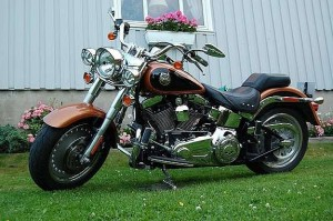 photo de HARLEY DAVIDSON FLSTF FAT BOY 1584 occasion de couleur noir en vente à Bazicourt n°1