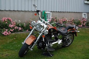 photo de HARLEY DAVIDSON FLSTF FAT BOY 1584 occasion de couleur noir en vente à Bazicourt n°3