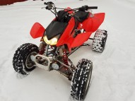 photo de HONDA TRX 450 occasion de couleur rouge en vente �  Lyon 01
